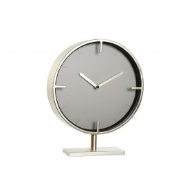 TABLE CLOCK METAL MDF 23X6X28 GOLDEN