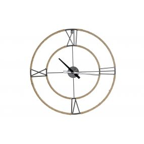 WALL CLOCK METAL ROPE 60X4,5X60 BLACK