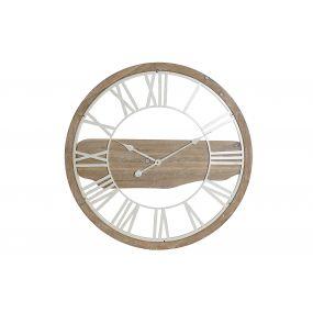 WALL CLOCK METAL MDF 70X4,5X70 NATURAL