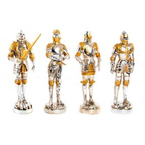 FIGURE RESIN 9X7X25 GENTLEMAN CHROMED 4 MOD.