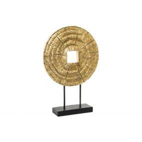 FIGURE RESIN 35X10X51 TRUNK SPARKLY GOLDEN