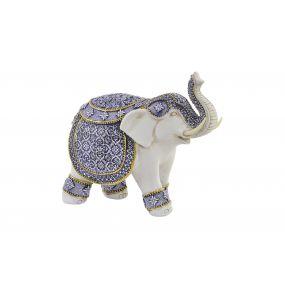 FIGURE RESIN 24X11X20,5 ELEPHANT WHITE