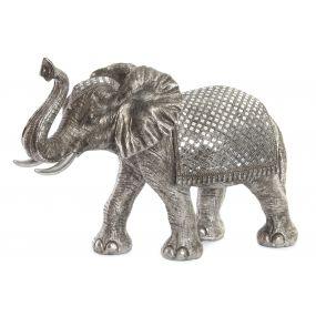 FIGURE RESIN GLASS 67X26X49 ELEPHANT