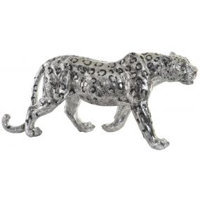 FIGURE RESIN 60X17X27 JAGUAR SILVER
