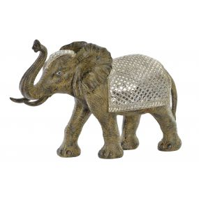 FIGURE RESIN MIRROR 70X26X50 ELEPHANT SILVER