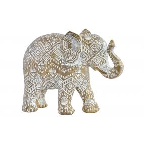 FIGURE RESIN 22,5X8,5X16 ELEPHANT DECAPE GOLDEN