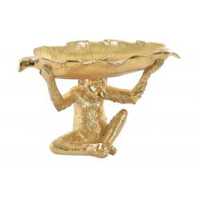 FIGURE RESIN 38,5X24X18,5 MONKEY GOLDEN