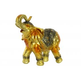 FIGURE RESIN GEMS 30X26,5X29,7 ELEPHANT GOLDEN