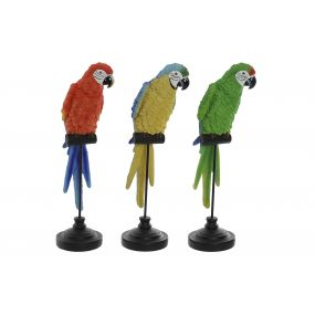 FIGURE RESIN METAL 12,5X8,5X36 PARROT 3 MOD.