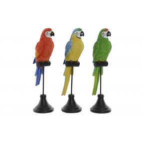 FIGURE RESIN METAL 9,5X8X32 PARROT 3 MOD.
