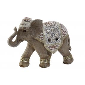FIGURE RESIN MIRROR 27X11X19,5 0,68 ELEPHANT BROWN