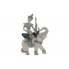 FIGURE RESIN 22,5X9,5X31 0,68 BUDDHA ELEPHANT