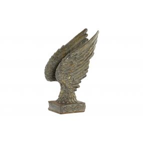 FIGURE RESIN 19X11X30 WINGS AGED