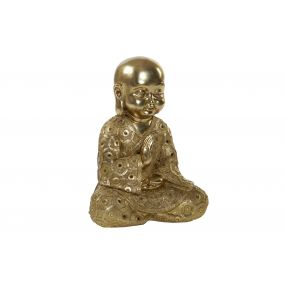 FIGURE RESIN 45X32X60 MONK GOLDEN