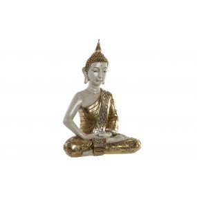 FIGURE RESIN 44X25X60 BUDDHA GOLDEN