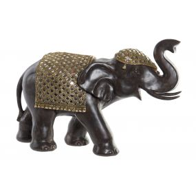 FIGURE RESIN MIRROR 56X23X37 ELEPHANT CHAMPAGNE