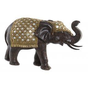 FIGURE RESIN MIRROR 31X12X19 ELEPHANT BROWN