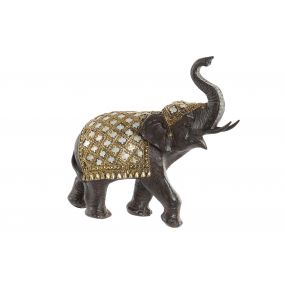FIGURE RESIN MIRROR 23X10X23 ELEPHANT BROWN
