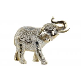 FIGURE RESIN 29X11X24 ELEPHANT GOLDEN