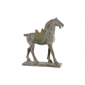 FIGURE RESIN 49X17X54 HORSE AGED