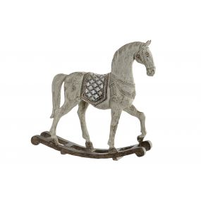 FIGURE RESIN 38X9X37 HORSE AGED