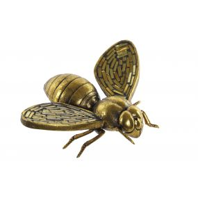 FIGURE RESIN 16X13X5 BEE WALL AGED GOLDEN