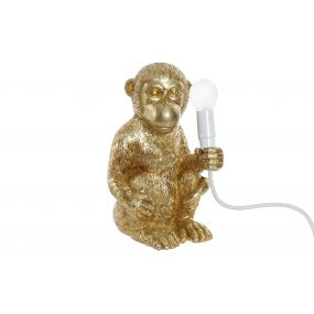 TABLE LAMP RESIN 15X15X26 E14 MONKEY GOLDEN