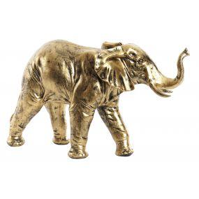 FIGURE RESIN 40X13X23 40 ELEPHANT GOLDEN