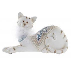 FIGURE RESIN MIRROR 21X9X12,5 CAT WHITE