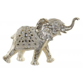 FIGURE RESIN 50X15X32 ELEPHANT GOLDEN