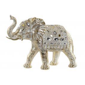 FIGURE RESIN 34X15X27 ELEPHANT GOLDEN