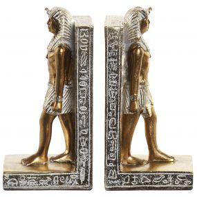 BOOKEND SET 2 RESIN 10X7,5X20,5 EGYPTIAN GOLDEN