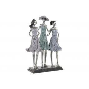 FIGURE RESIN 31X14X44 GIRLS SILVER