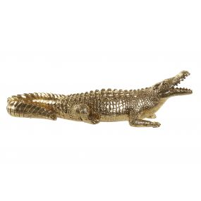 FIGURE RESIN 61X19X19 CROCODILE GOLDEN