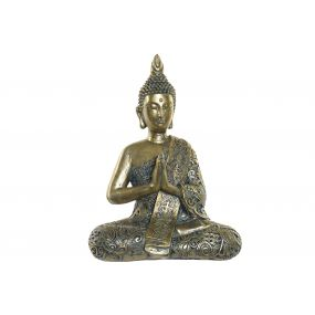 FIGURE RESIN 29X16X37,5 BUDDHA AGED GOLDEN