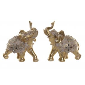 FIGURE RESIN MIRROR 28X13X29 ELEPHANT 2 MOD.