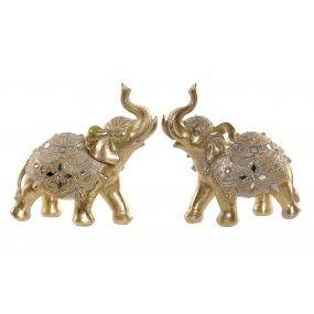FIGURE RESIN MIRROR 20X8X20 ELEPHANT 2 MOD.