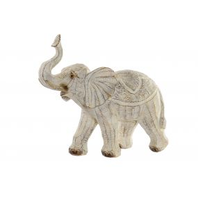 FIGURE RESIN 27X12X24,5 ELEPHANT DECAPE BEIGE