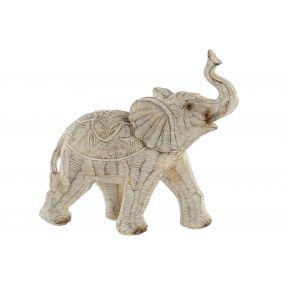 FIGURE RESIN 19X8X18 ELEPHANT DECAPE BEIGE