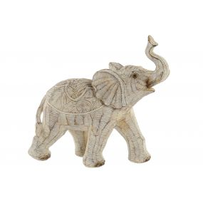FIGURE RESIN 19X8X18 ELEPHANT DECAPE BEIGE