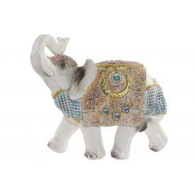 FIGURE RESIN 19,5X10X18,5 ELEPHANT DECAPE BLUE