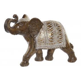 FIGURE RESIN 37,5X13X24 ELEPHANT GOLDEN