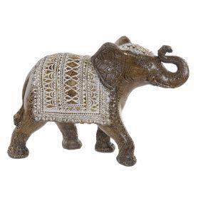 FIGURE RESIN 24,5X9X17,5 ELEPHANT GOLDEN