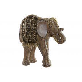 FIGURE RESIN 17,5X7,5X17,5 ELEPHANT GOLDEN