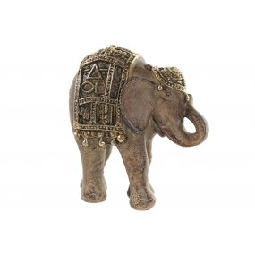 FIGURE RESIN 9,5X4,5X10 ELEPHANT GOLDEN
