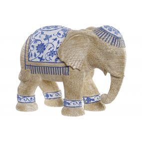 FIGURE RESIN 25,5X13X19 ELEPHANT BROWN