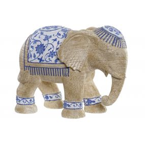 FIGURE RESIN 31,5X16X24 ELEPHANT BROWN