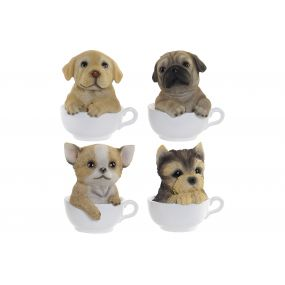 FIGURE RESIN 12X10,5X14 DOG MUG 4 MOD.