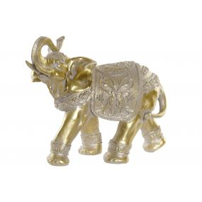 FIGURE RESIN 35X14.5X28,5 ELEPHANT GOLDEN