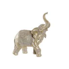 FIGURE RESIN 22X10X26 ELEPHANT GOLDEN